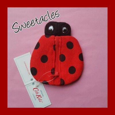 Genuine CATH KIDSTON KIDS Ladybird Zip Coin Purse NEW with Tags