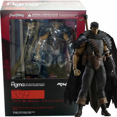 Max Factory Figma Berserk - Guts Black Swordsman Ver. Repaint Action Figure USA