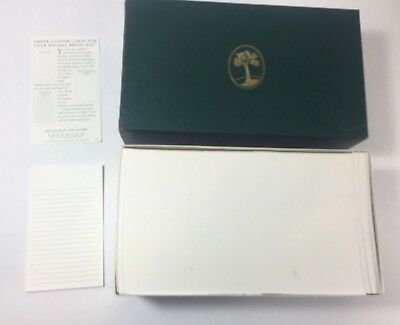Levenger 300 Non-Personalized 3x5 Cards White Ruled AL140RL NEW Pocket Briefcase