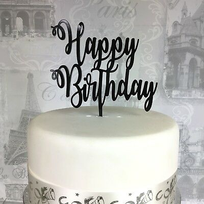 Happy Birthday acrylic cake topper, celebration topper, 19 COLOURS AVAILABLE
