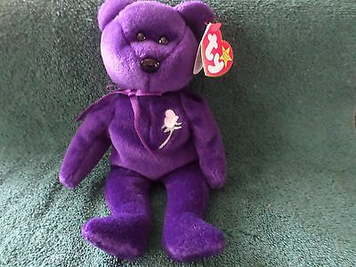 Rare 1997 Princess Diana Ty Beanie Baby 1st Edition P. E. PELLETS WITH A SPACE