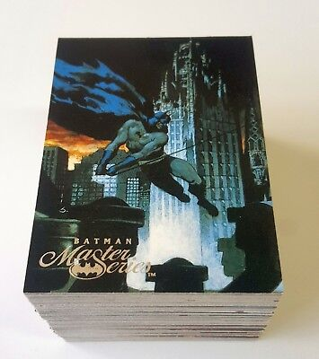 1995 Skybox Batman Master Series near complete set 87 of 90 trading cards