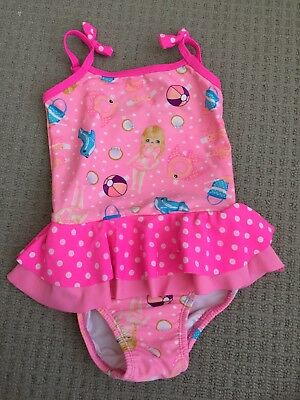 Baby Girl Swimming Costume Bathers Swimmers 6-12 months Pumpkin Patch