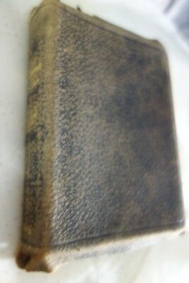 """Victorian New Testament -1900- Leather Cover, Gilt-Edge Pages- 3-1/2"""" x 5""""- SALE"""