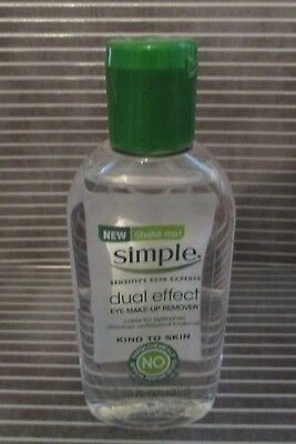 SIMPLE- Kind to Skin Dual Effect Eye Makeup Remover 3.38 oz {NO HARSH CHEMICALS}