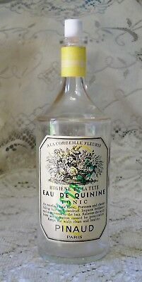 Vintage Clear Glass Ed Pinaud Paris Eau De Quinine Hair Tonic Bottle