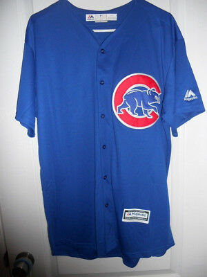 #17 Kris Bryant Chicago Cubs Alternate Blue Majestic Cool Base Stitched Jersey L