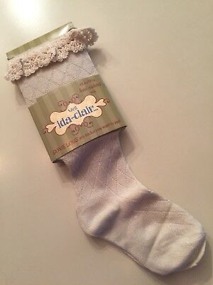 Soxie Louis Lace Trimmed Knee Boot Socks Sz Small Shoe Size 6-11 $24 NEW Girls
