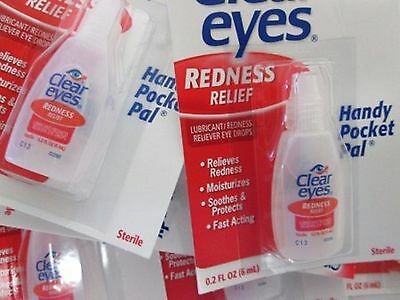 Pack of 4 Clear Eyes Expiry 2021  Handy Pocket Edition  0.2OZ Each