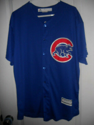 #44 Anthony Rizzo Cubs Alternate Blue Majestic Cool Base Stitched Jersey XL