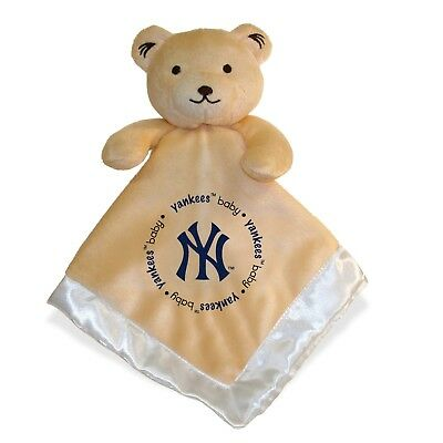 New York Yankees 14x14 Security Bear Blanket Baby Fanatic MLB Hologram NWT
