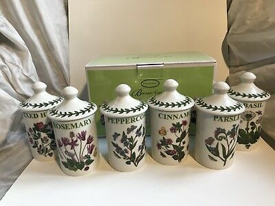 portmeirion botanic garden Set Of 6 Herb And Spice Jars