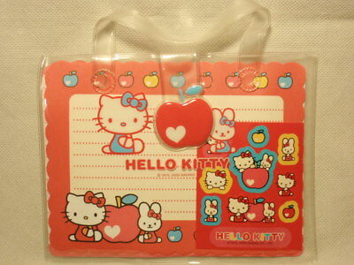 Sanrio Hello Kitty Stationary Set with Stickers in Pouch 2003