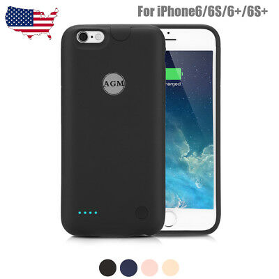 Slim External Battery Charging Case Back Cover Power Bank for iPhone 6/6s/6+/6S+