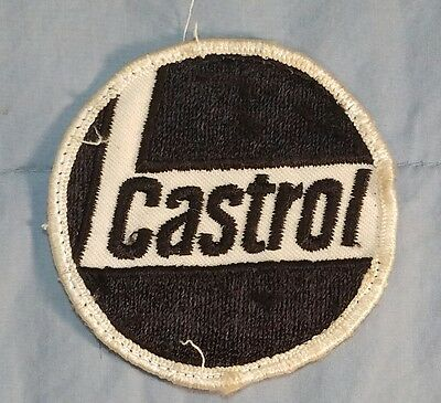 "Vintage Castrol Oil & Gasoline Company Jacket Shirt Advertising 3"" dia. Patch"