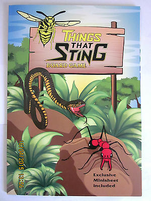 ~2014 Australia Things that Sting Board Game Exclusive Minisheet - NEW~