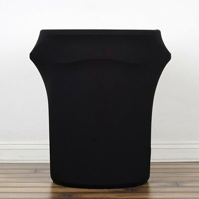 Black Round Stretchable Spandex Trash Can COVERS Wedding Decorations Supply SALE
