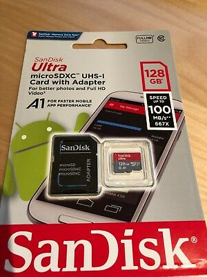 SanDisk 128GB Micro SD SDXC MicroSD TF Class 10 128G 128 GB Mobile Ultra 100MB/s