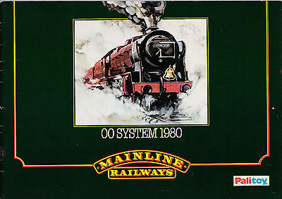 MAINLINE RAILWAYS OO; 1980 Catalogue. 37 Pages VERY GOOD CONDITION