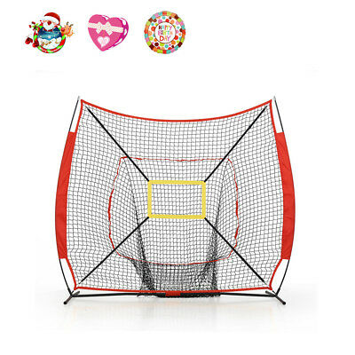 Portable Tball Softball Baseball Training Practice Net Tennis Outdoor Yard