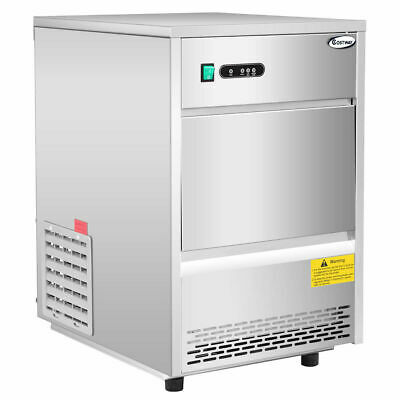 Commercial Automatic Ice Maker Machine 70lbs/24h Stainless Steel Freestanding