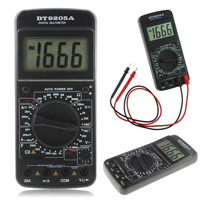LCD Digital Multimeter DT9205A Strom Messgerät Voltmeter Spannung AC DC Electric