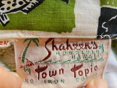 ORIGINAL vintage retro rockabilly Hawaiian shirt - Shaheen Original - size SM