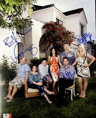 Cougartown Cox Miller Philipps Gomez +3 Cast Signed 11x14 Photo GV719823
