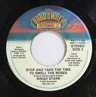 Rock 45 Ringo Starr - Stop And Take The Time To Smell The Roses / Private Proper