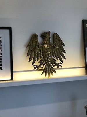 RARE VINTAGE BARCLAYS BANK EAGLE PLAQUE Polished Solid Brass