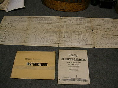 1958 Bally CYPRESS GARDENS Bingo Operating Instructions Manual & Schematic