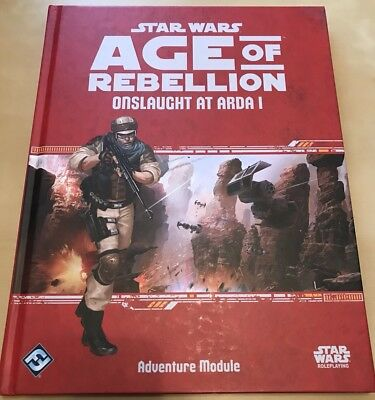 "Star Wars Age Of Rebellion RPG ""Onslaught At Arda I"" Adventure Module (FFG)"
