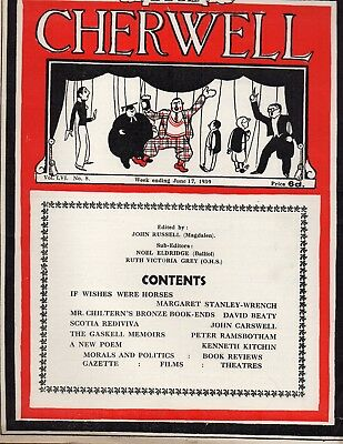 Cherwell Oxford University 1939 Margaret Stanley Wrench Theatre Films Poetry
