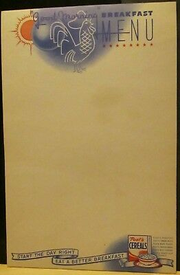 Post Cereal Note Pad 1950s - 60s