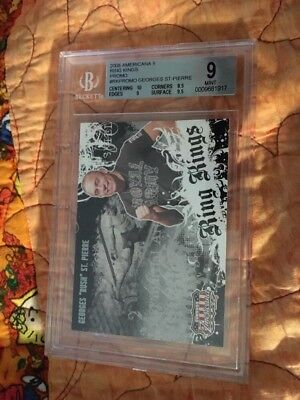 2008 DONRUSS UFC AMERICANA GEORGES ST. PIERRE RING KING Rare Promo Rookie BGS 9