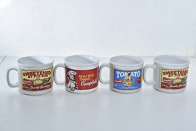 Lot of 4 Campbell's 2004 - 2005 Westwood Collectible Tomato Soup Cups Bowls Mugs