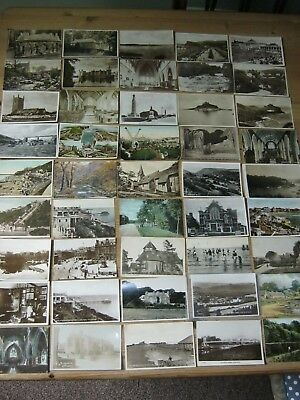 45 early colour and RP Postcards - Margate, Shrewsbury, Plymouth, Whitby...