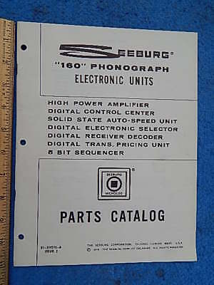Seeburg SPS160 STD160 STD2 Electronic Units Parts Catalog # 81-319370-A Issue 2