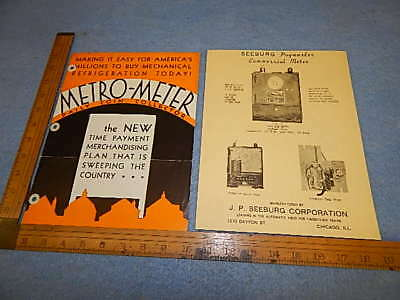 1934 Seeburg Metro-Meter Daily Coin Collector & Paymaster Advertising Brochures
