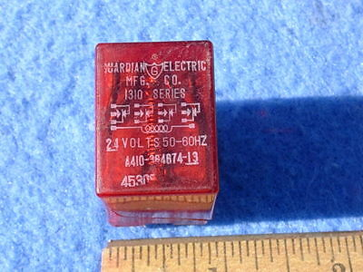 Rock-ola Relay # 45305 - 24 VAC (red) - used for WRITE-IN and STOP relay