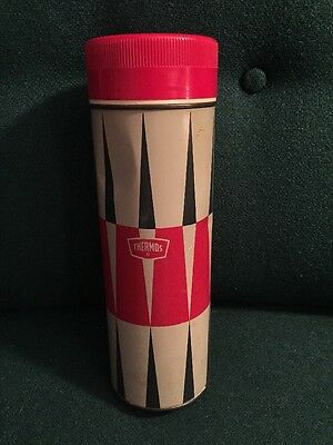 Vintage King Seeley Thermos Red And Black Stripe Metal Coffee Soup