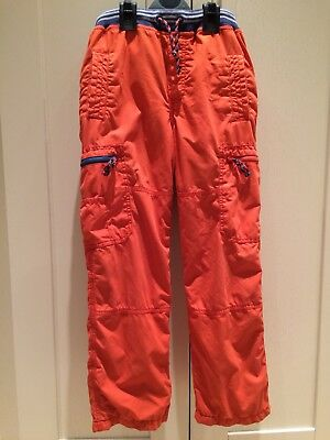Boys Boden Orange Lined Skate Trousers, Age 10