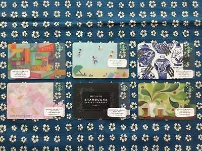 Starbucks Korea Gift Card 6 Pc Assortment Unswiped Ships Free From Chicago Area!