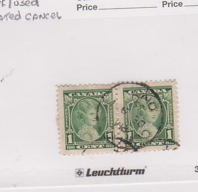 Canada - Stamp #211 Princess Elizabeth - VF Used - Pair Dated Dec 9 1935