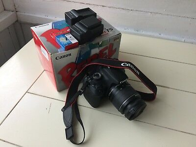 Canon EOS Rebel T5 EF-S With 18-55mm Lens, 16 GB SD Card And Three Batteries