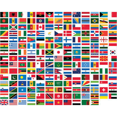UN INTERNATIONAL COUNTRIES NYLON FLAGS  2'X3' 3'x5' 4'x6'  5'X8' MADE USA