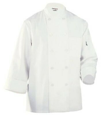 Chef Works WCCW Le Mans Basic Chef Coat, White, X-Large , New, Free Shipping