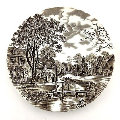 Johnson Brothers Salad Plate Stoke On Trent England Cotswold Ironstone Scene MIE