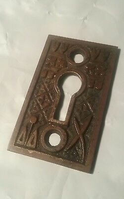 1 broken leaf Solid brass Eastlake key hole cover antique door knob Hardware