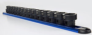 "Sunex 2673 15 Piece Metric 1/2"" Dr Low Profile Impact Socket Set With"